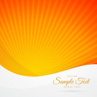 Fondo de rayos de sol naranjas