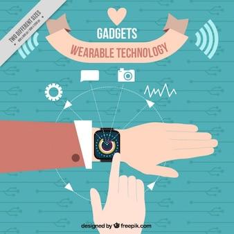 Fondo de reloj tecnológico