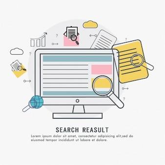 Fondo de resultado de búsqueda