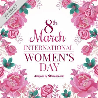 Fondo de rosas del día internacional de la mujer