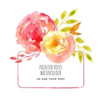 Fondo de rosas pintadas