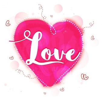 Fondo de san valentín bokeh con corazones dibujados a manos