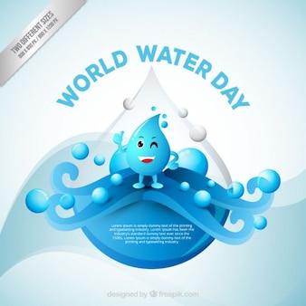 Fondo de simpática gota del Día Mundial del Agua