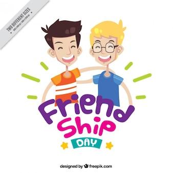 Fondo de simpáticos amigos juntos