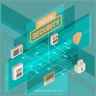 Fondo de sistema de seguridad