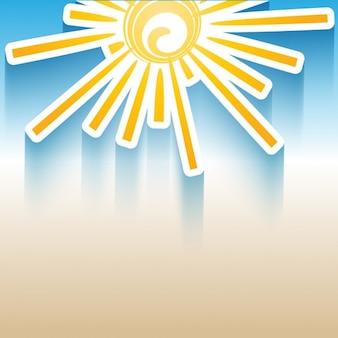 Fondo de sol plano