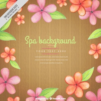 Fondo de spa floral pintado a mano