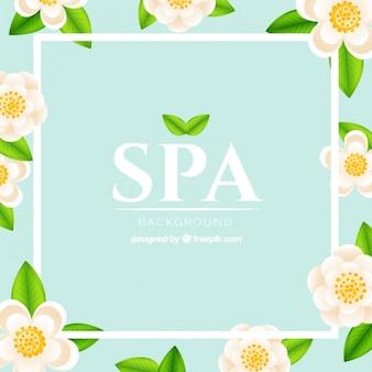 Fondo de spa floral