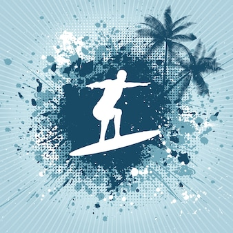 Fondo de surf con textura grunge