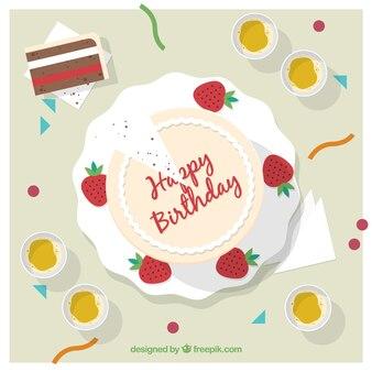 Fondo de tarta de cumpleaños