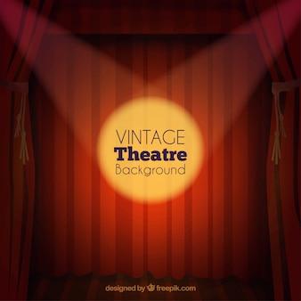 Fondo de teatro vintage