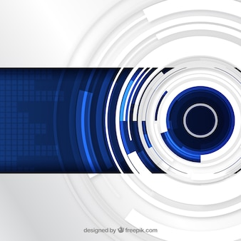 Fondo de tecnología azul y blanco