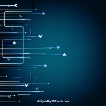 Fondo de tecnología azul