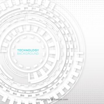 Fondo de tecnología blanco