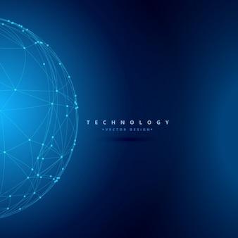 Fondo de tecnología con esfera