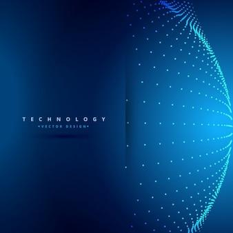 Fondo de tecnología con los puntos de la esfera