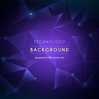 Fondo de tecnología con triángulos