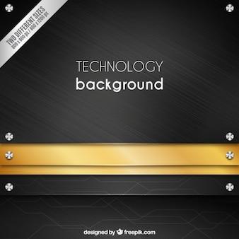 Fondo de tecnología de textura metálica