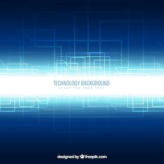 Fondo de tecnología en el estilo de neón
