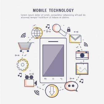 Fondo de tecnología móvil