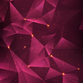Fondo de tecnología poligonal brillando