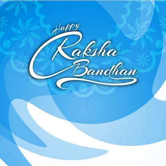 Fondo de texto de feliz raksha bandhan