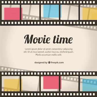 Fondo de tiempo de película retro