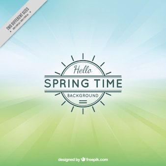 Fondo de tiempo de primavera