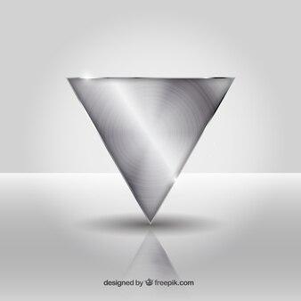 Fondo de triángulo de metal