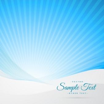 Fondo de un cielo azul con rayos de sol