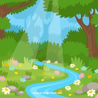 Fondo de un paisaje de verano
