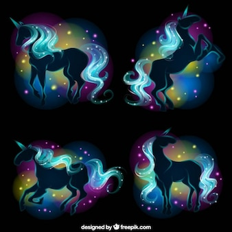 Fondo de unicornio de fantasía