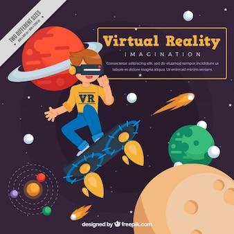 Fondo de universo virtual