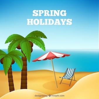 Fondo de vacaciones de primavera