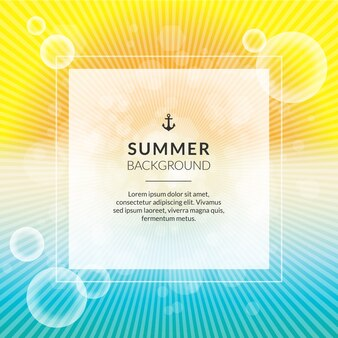 Fondo de verano brillante