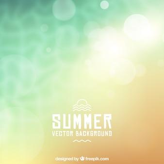 Fondo de verano con efecto borroso