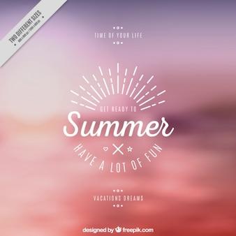 Fondo de verano con una bonita frase
