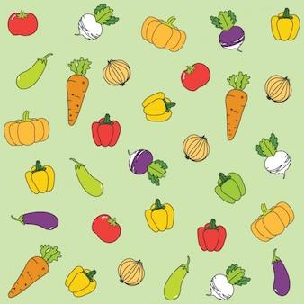 Fondo de verduras saludables