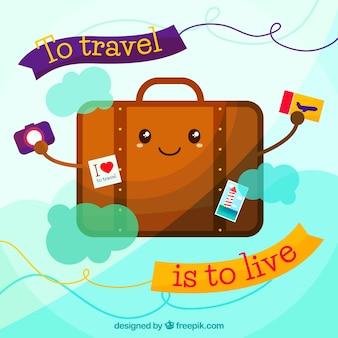 Fondo de viajar es vivir