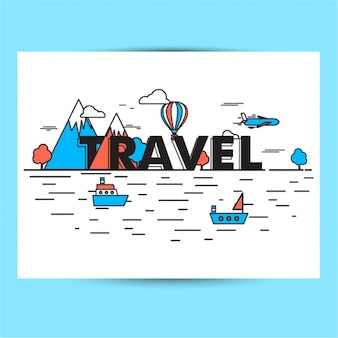 Fondo de viaje plano