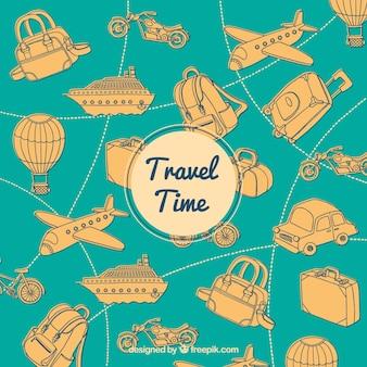 Fondo de viaje vintage