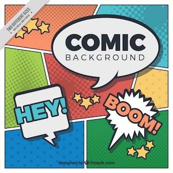 Fondo de viñetas de comic con espresiones
