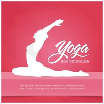 Fondo de yoga rojo