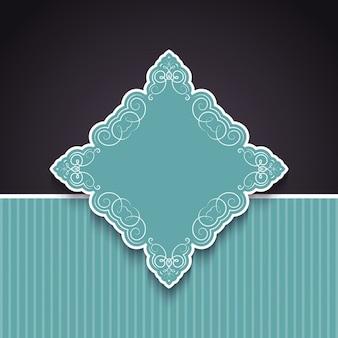 Fondo decorativo con emblema ornamental