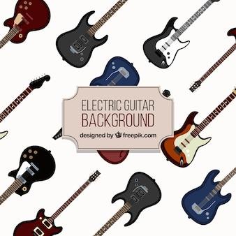 Fondo decorativo con guitarras eléctricas