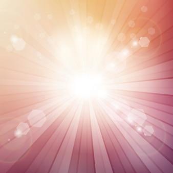 Fondo decorativo con rayos de sol