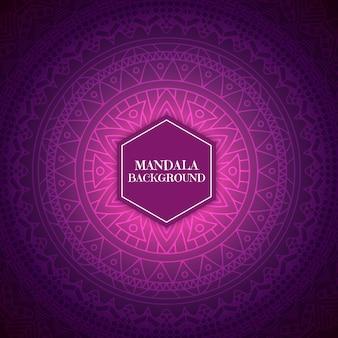 Fondo decorativo con un diseño de mandala rosado