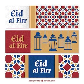 Fondo decorativo de eid al-fitr
