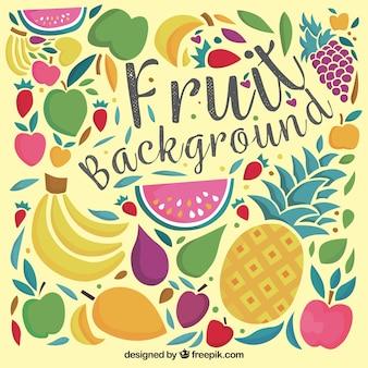 Fondo decorativo vintage de frutas