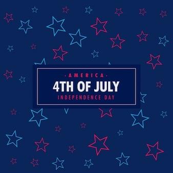 Fondo del 4 de julio con estrellas